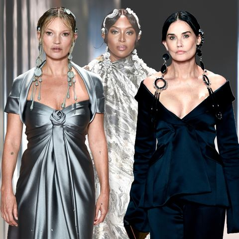 Kate Moss, Naomi Campbell + Demi Moore