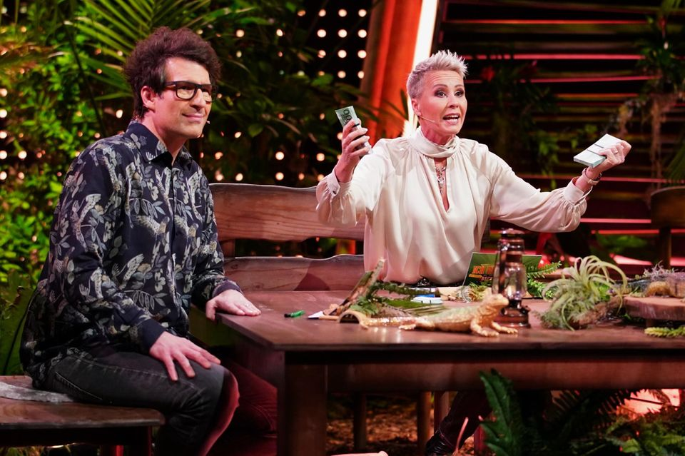 Daniel Hartwich und Sonja Zietlow bei der Dschungelshow (auf RTL und TVNow)