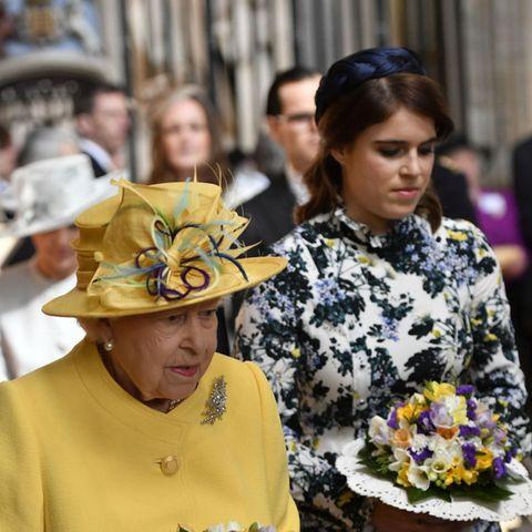 Queen Elizabeth + Prinzessin Eugenie