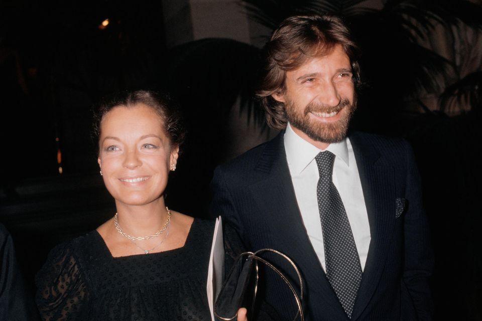 Romy Schneider und Daniel Biasini 1980 in der Pariser Oper.