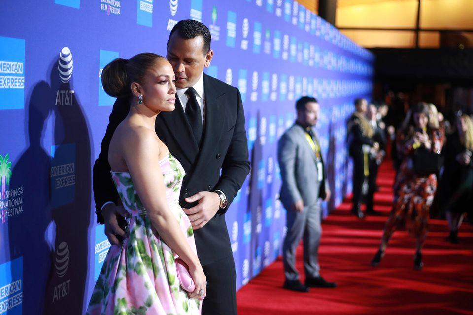 Jennifer Lopez und Alex Rodríguez bei denPalm Springs International Film Festival Film Awards im Januar 2020