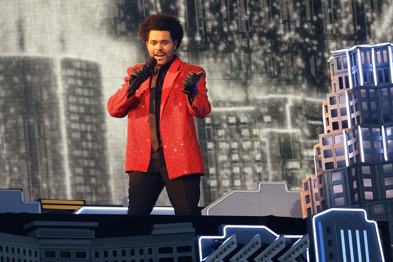 The Weeknd bei derHalbzeitshow des Super Bowl LV
