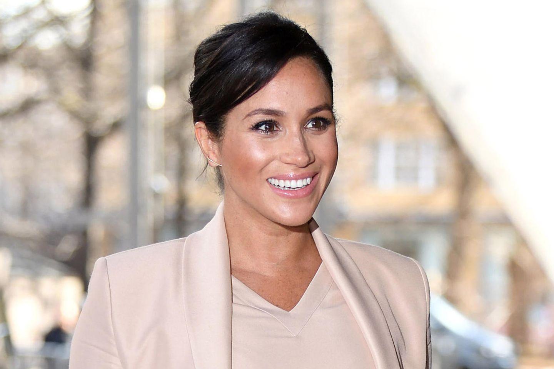 Herzogin Meghan während ihrer Schwangerschaft mit Archie im Januar 2019