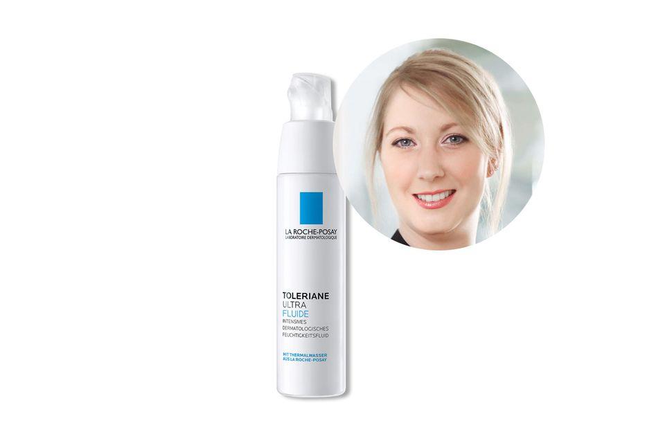 ExpertinElsa Devillechabrolle von La Roche Posay empfiehlt das Toleraine Ultra Fluide für sensible und überpflegte Haut.
