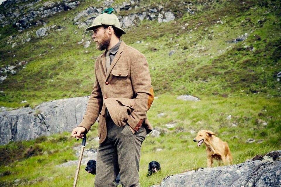 James Middleton und seine Hunde lieben die schottische Natur.