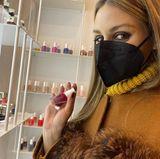 Olivia Palermo gönnt sich zum Valentinstagswochenende mal wieder eine schöne Maniküre.