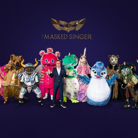 (v.l.n.r.) Der Flamingo; Das Quokka; Der Stier; Der Monstronaut; Matthias Opdenhövel; Der Dinosaurier; Das Einhorn; Das Küken; Der Leopard; Die Schildkröte; Das Schwein