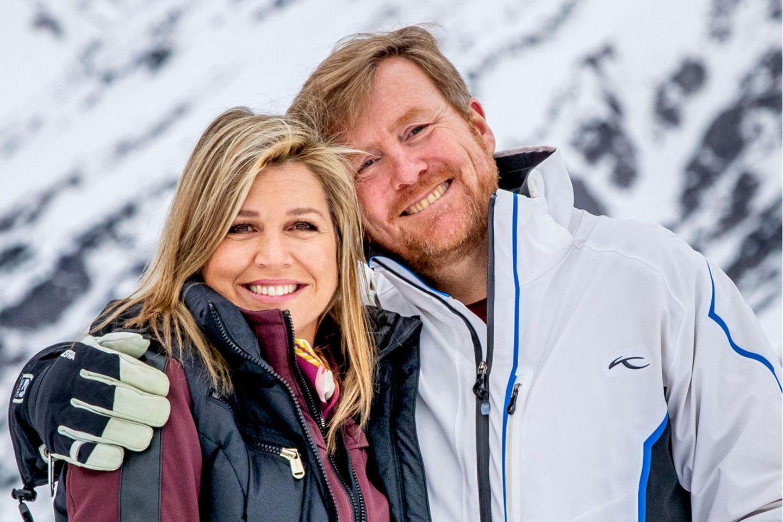 Königin Máxima und König Willem-Alexander – hier fotografiert 2020 in Lech – mögen Wintersport. Das zeigt sich auch in einem Post am Valentinstag.