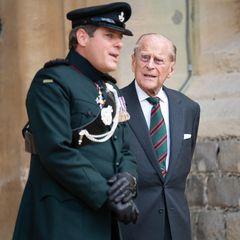 """22. Juli 2020  In Zeiten von Corona ein seltener Auftritt: PrinzPhilip gibt seine Funktion als Ehrenoberst des """"Rifles""""-Regiment ab. Neuer Ehrenoberst ist seitdem Herzogin Camilla."""