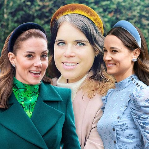 Herzogin Kate, Prinzessin Eugenie + Pippa Middleton