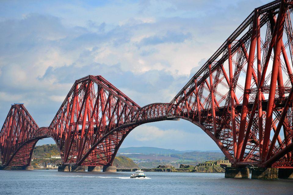 Die Forth Bridge in Schottland.