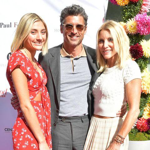 Patrick Dempsey mit Tochter Tallula (l.) und Ehefrau Jillian Fink