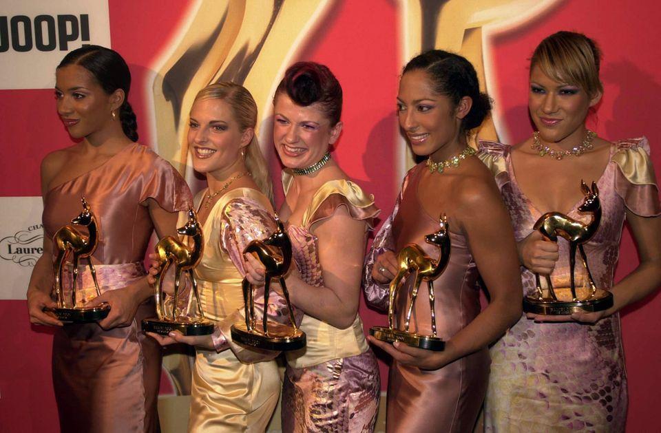 Die No Angels im Jahr 2001 beim Bambi – damals noch mit Vanessa Petruo