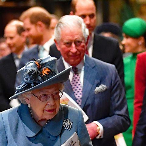 Die britische Königsfamilie mit ihrem Oberhaupt Queen Elizabeth