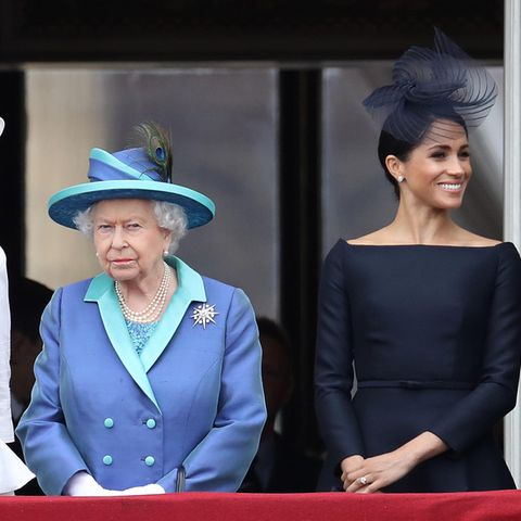 Queen Elizabeth, Herzogin Meghan und Prinz Harry