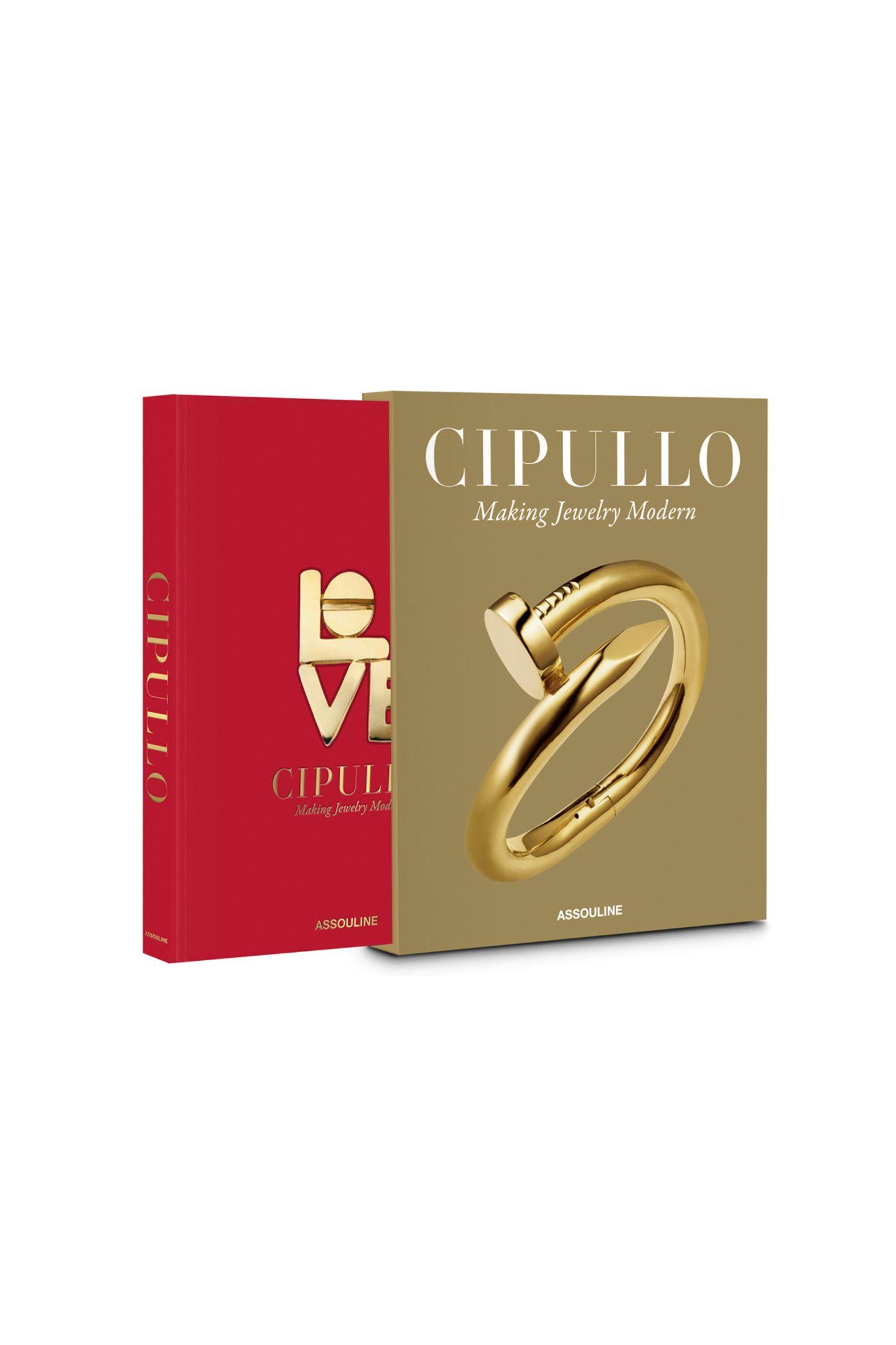 """Ehre, wem Ehre gebührtDer legendäre Schmuckdesigner Aldo Cipullo erschuf Ikonen, die bis heute begeistern. Ein umfangreiches und bildgewaltiges Buchehrt nun seinLebenswerk. """"Making Jewelry Modern"""" von Renato Cipullo, ca. 195 Euro (erschienen imAssouline Verlag)"""