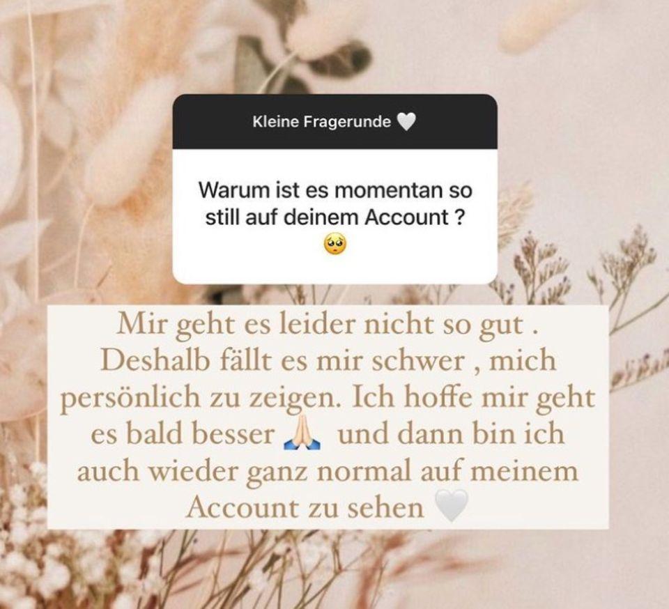Yeliz Koc erklärt ihre Abwesenheit auf Instagram