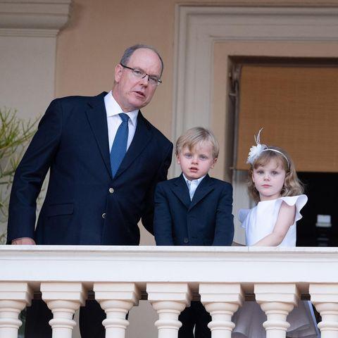 Fürst Albert, Prinz Jacques und Prinzessin Gabriella