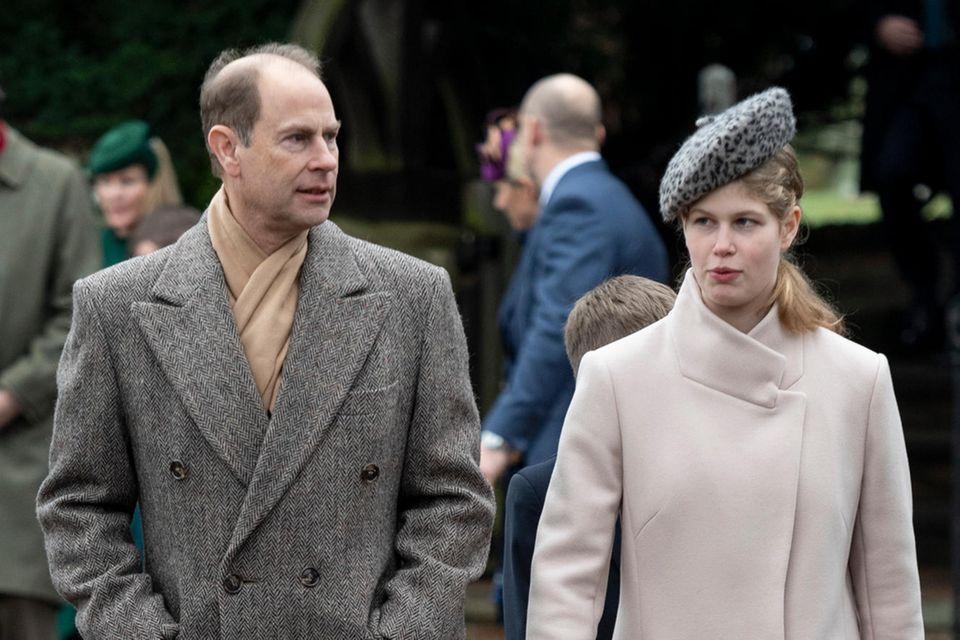 Prinz Edward und seine Tochter Lady Louise