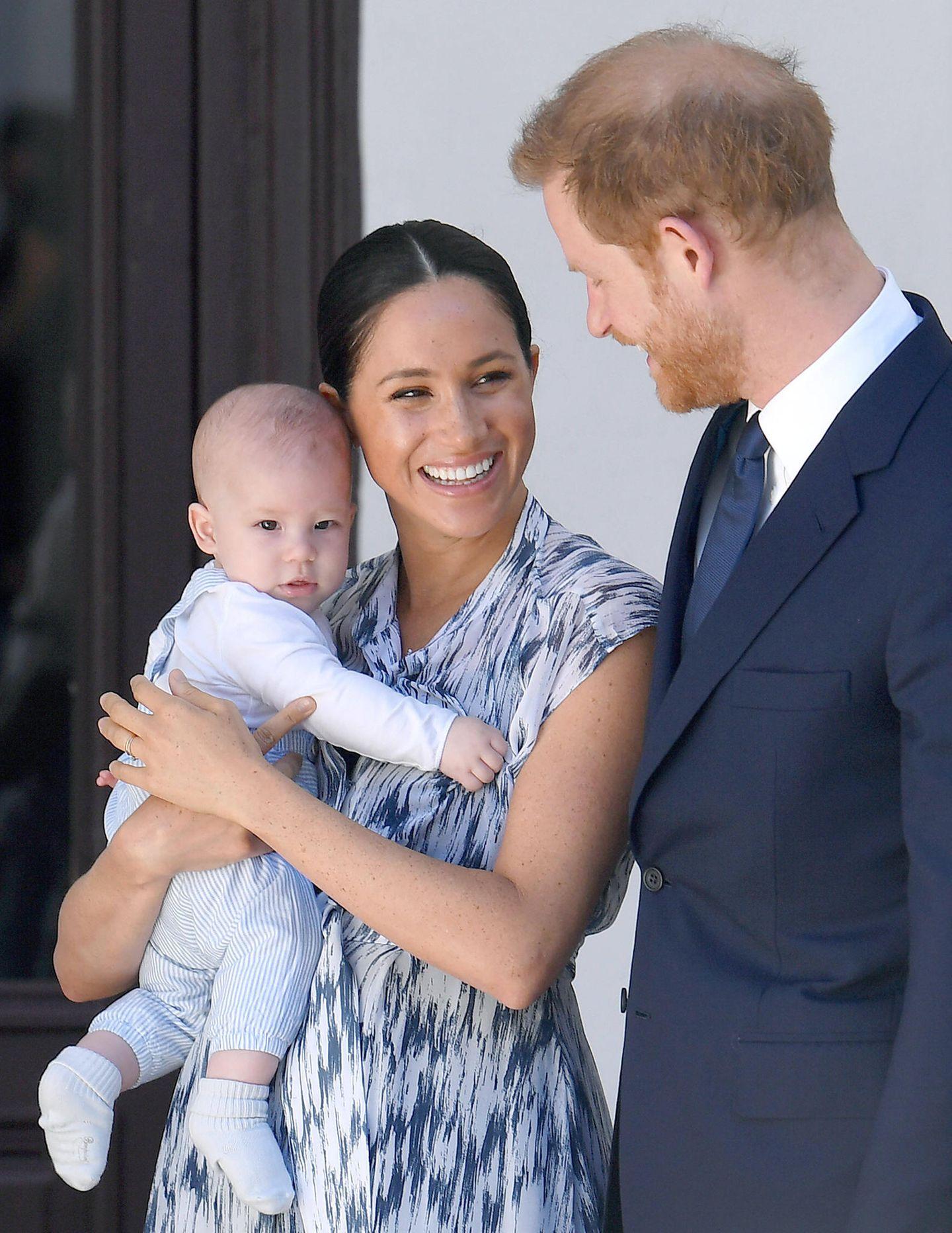Herzogin Meghan, Prinz Harry und ihr Sohn Archie Mountbatten-Windsor