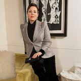 Von London aus nimmt Olivia Coleman an den diesjährigen Golden Globes teil. Sie trägt einen glamourösen Anzug-Lokk von Armani Privé und Schmuck von Messika.