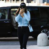 Topmodel-Alarm: Auch wenn sie ihr Gesichtversteckt, konnte Irina Shayk am Rande der Fashion Week gesichtet werden.