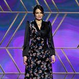 Als Moderatorin der Golden Globes präsentiert Tina Fey mehrere Looks, so auch diesen floralen.