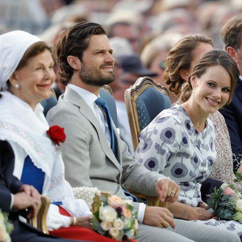 Königin Silvia, Prinz Carl Philip und Prinzessin Sofia