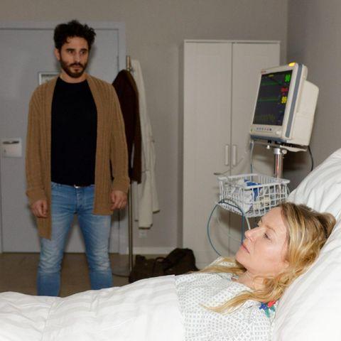 Tobias (Jan Kittmann) und Melanie (Diana Staehly). Alle Folgen von GZSZ sehen Sie bei TVNOW.