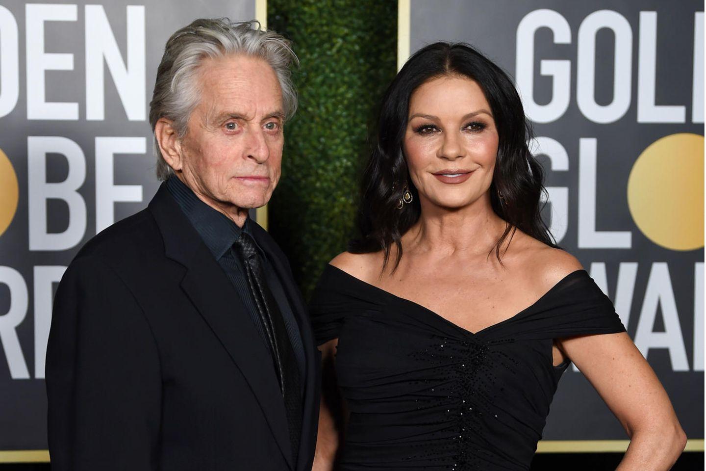 Michael Douglas undCatherine Zeta-Jones bei den Golden Globes 2021.