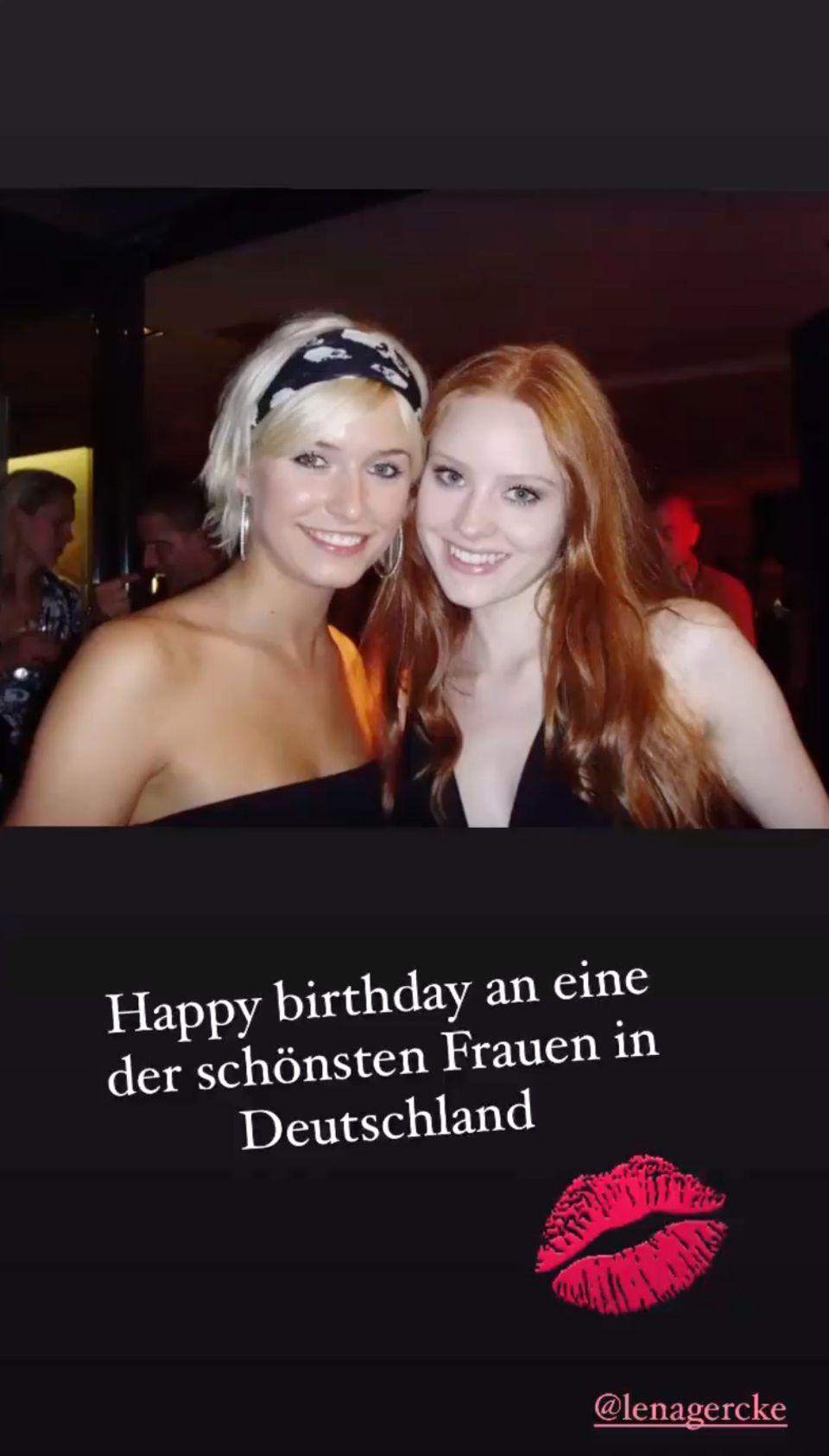Barbara Meier gratuliert Lena Gercke mit diesem süßen Throwback-Foto zum Geburtstag.