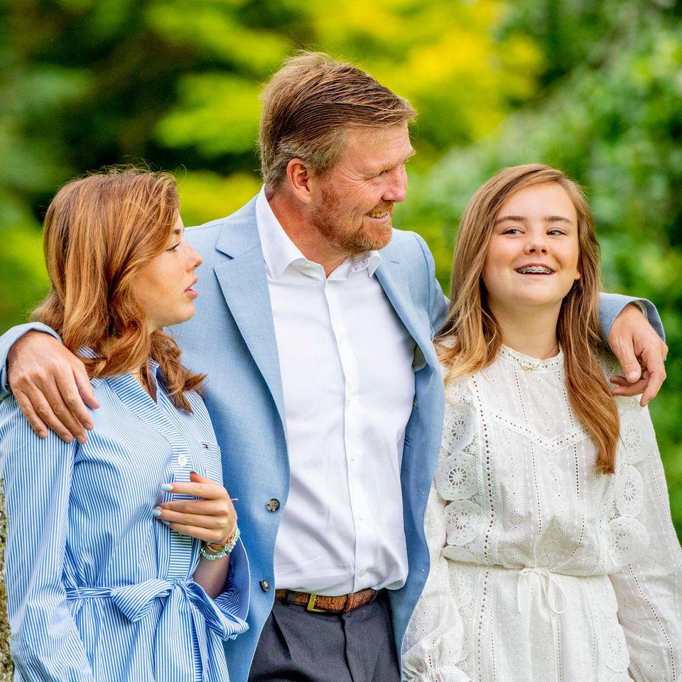 Prinzessin Alexia, König Willem-Alexander und Prinzessin Ariane