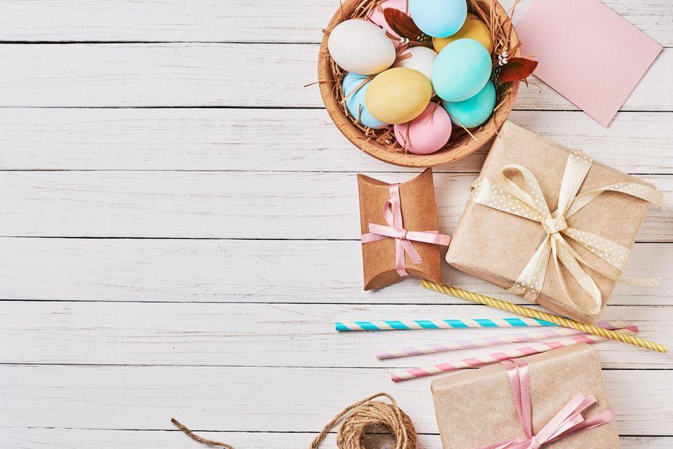 Kleine Ostergeschenke, Osternest, Ostereier, Osterdeko