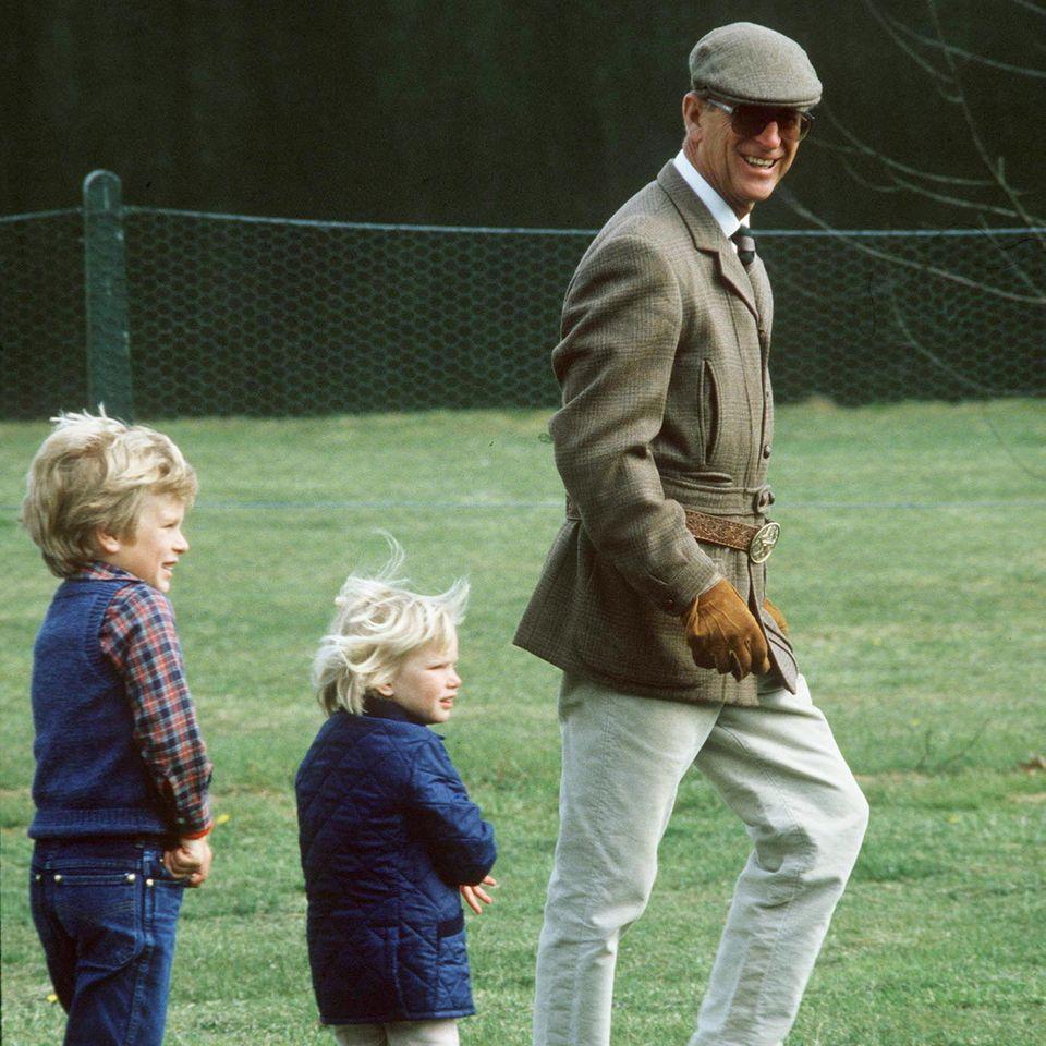 Peter Philips, Zara Tindall und Prinz Philip