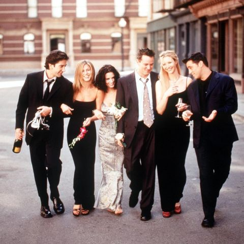 """Friends""-Cast: David Schwimmer, Jennifer Aniston, Courteney Cox, Matthew Perry, Lisa Kudrow und Matt LeBlanc"
