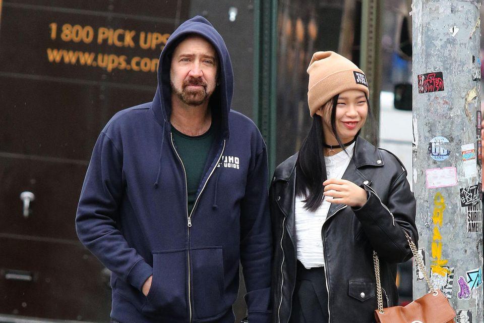 Nicolas Cage und Riko Shibata, hier bei einem Spaziergang im März 2020.