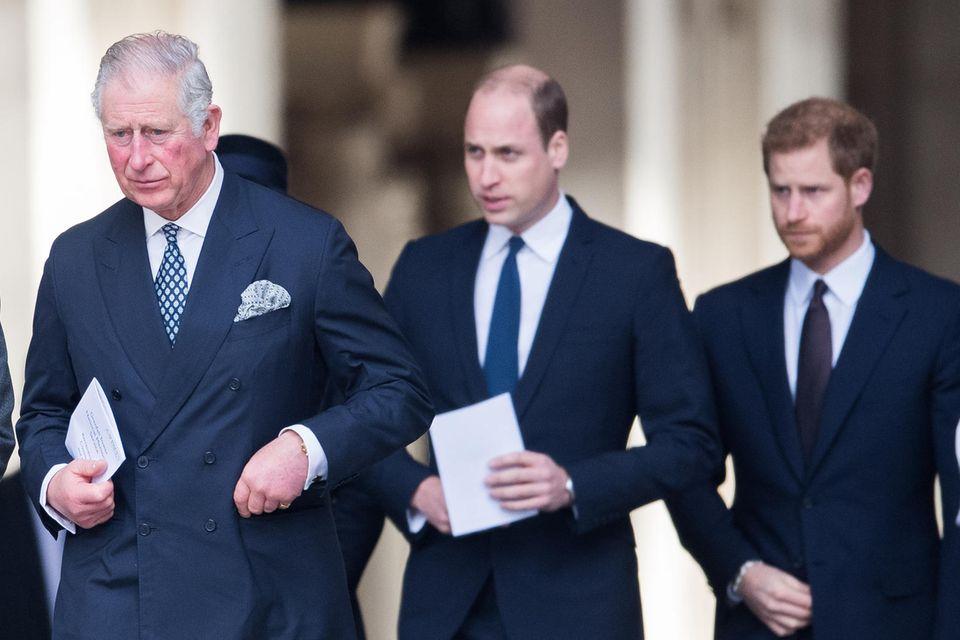 Prinz Charles, Prinz William + Prinz Harry
