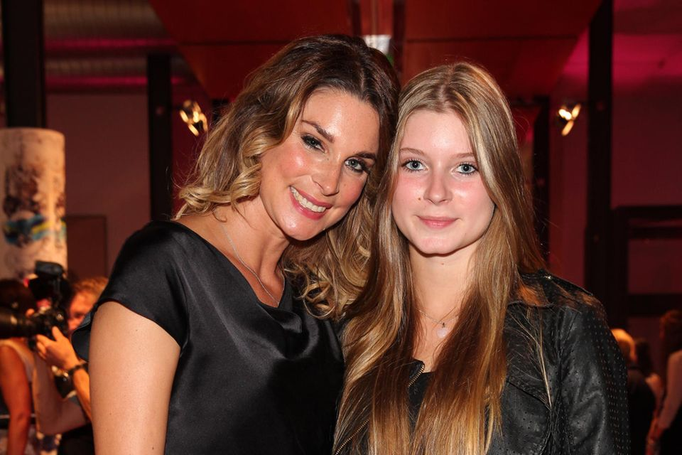 Claudelle Deckert mit Tochter Romy