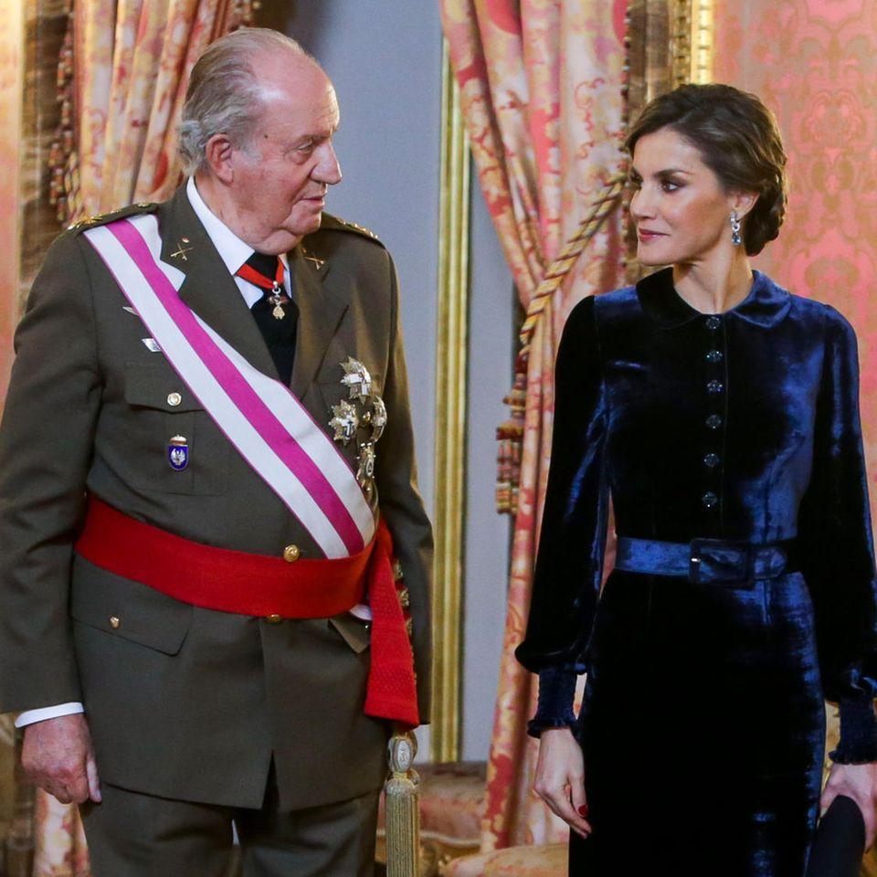 Juan Carlos und Königin Letizia