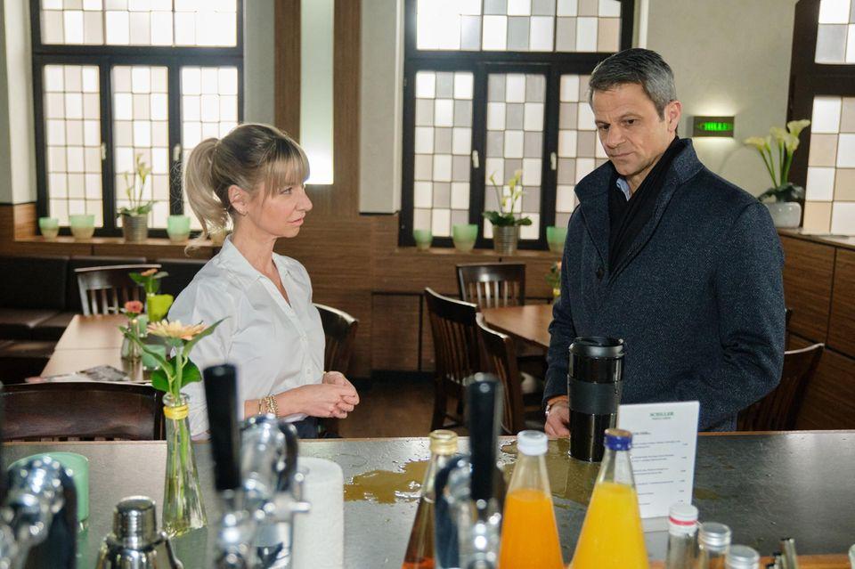 """Ute (Isabell Hertel) und Benedikt (Jens Hajek) bei """"Unter uns"""" – auf RTL und TVNow."""