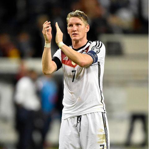 Bastian Schweinsteiger spielte von 2004 bis 2016 für die Deutsche Fußballnationalmannschaft.