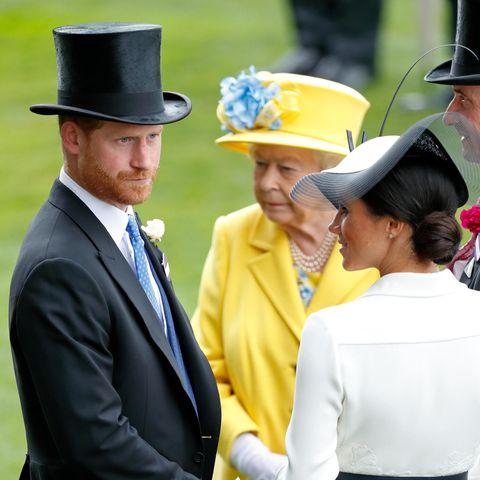 Prinz Harry und Herzogin Meghan mit Queen Elizabeth.