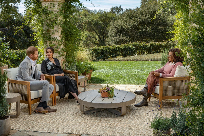 Prinz Harry und Herzogin Meghan beim Interview mit Oprah Winfrey