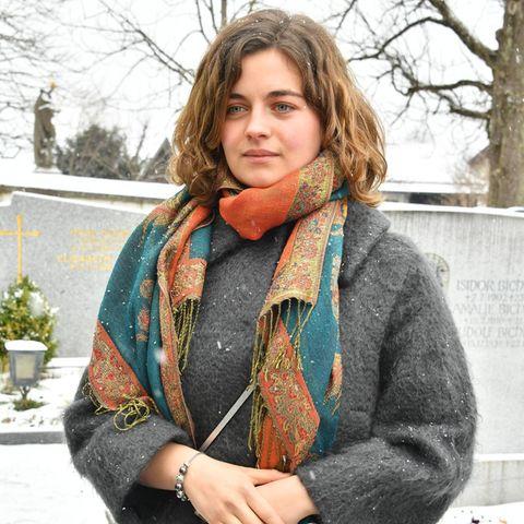 Ronja Forcher bei demGedenkgottesdienst für Siegfried Rauch im März 2018.