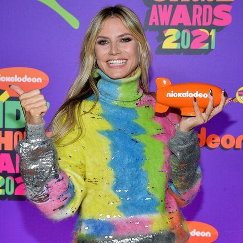 """Heidi Klum wurde bei den """"Kids' Choice Awards"""" mit einem Preis für ihre Show """"America's Got Talent"""" ausgezeichnet."""