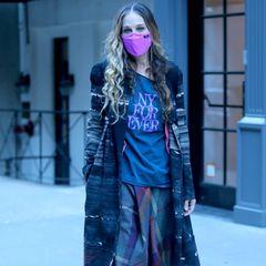 Schade eigentlich, denn Sarah Jessica Parker scheint ein richtiger Fan derflachen Pumps zu sein. Auch in Kombination mit Strumpfhose und Rock wirkt das Modell nicht stylischer.