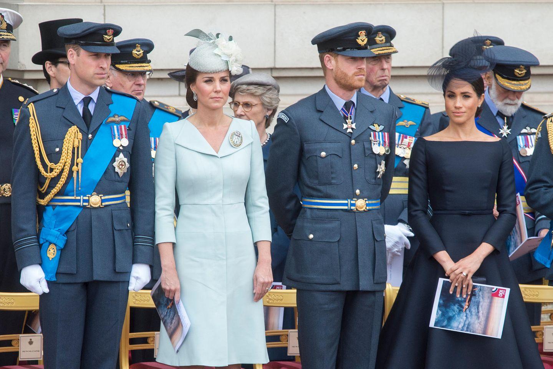 Das Verhältnis von Prinz William und Herzogin Catherine zu Prinz Harry und Herzogin Meghan ist zerrüttet.