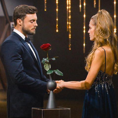"""Niko und Mimi beim Finale von """"Der Bachelor"""" – auf RTL und TVNow."""