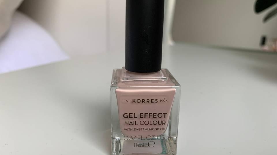 Korres Gel Effect Nagellack, Gel-Nagellack-Test