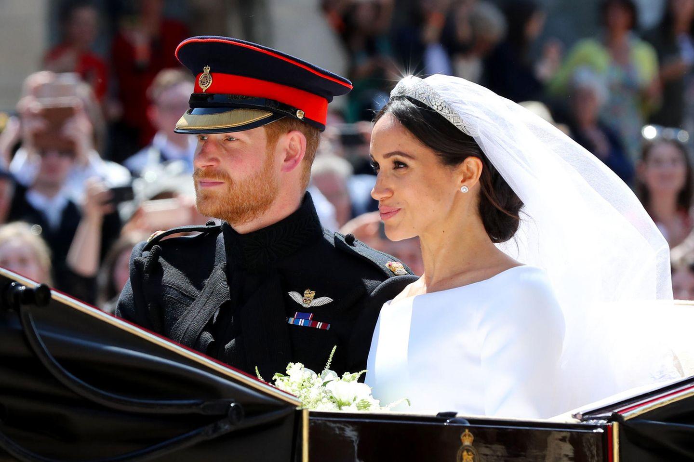 Prinz Harry und Herzogin Meghan bei ihrer Hochzeit am 19. Mai 2018.